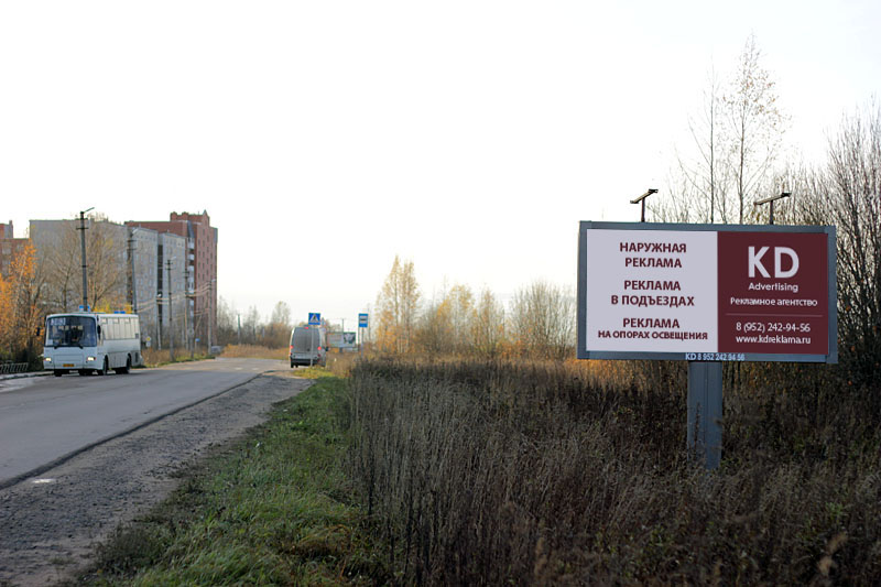 Рекламные щиты в Гатчинском районе Ленобласти