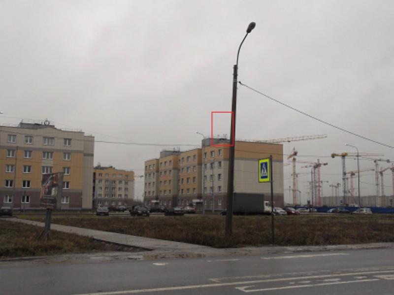 Рекламоноситель на опоре уличного освещения в Пушкине на ул. Полоцкая.